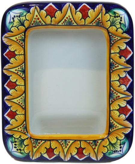 Ceramic Majolica Picture Frame - Rectangle