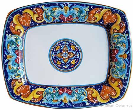Italian Curved Rectangular Platter - Ricco Vario