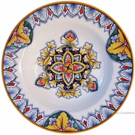 Italian Ceramic Pasta Bowl - Vario Antico Flower3