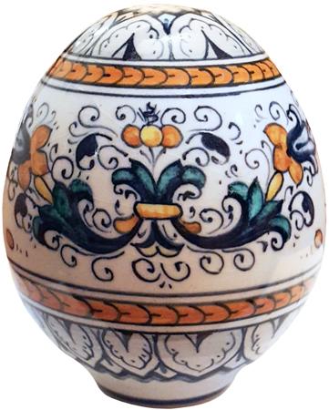 Italian Ceramic Decorative Egg - Ricco Deruta Style