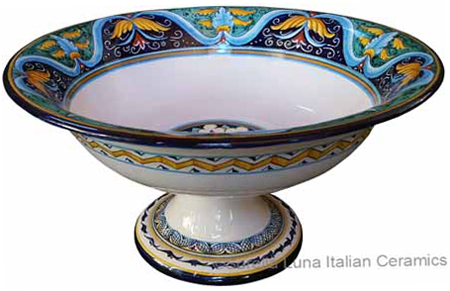 Italian Pedestal Fruit Bowl - Ricco Vario