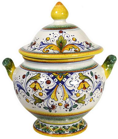 Deruta Italian Rinascimento Tureen/Urn