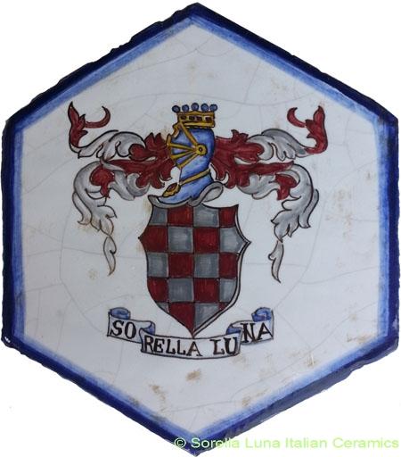 Tile Bologna Hexagonal Stemmi