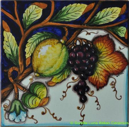 Tile Tracio Uva Limoni - Grapes Lemons