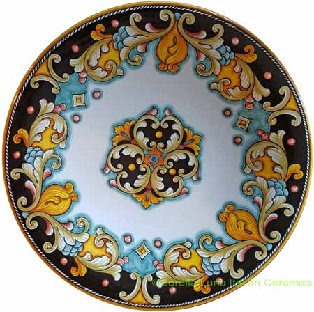Ceramic Majolica Plate D207 30cm