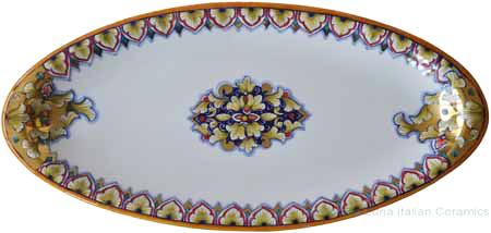 Italian Ceramic Oval Platter - Vario and Gold