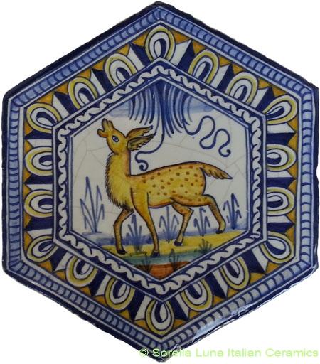 Tile Bologna Hexagonal Animal