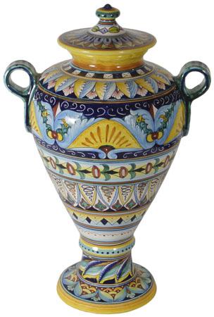 Italian Ceramic Centerpiece Urn - CEO