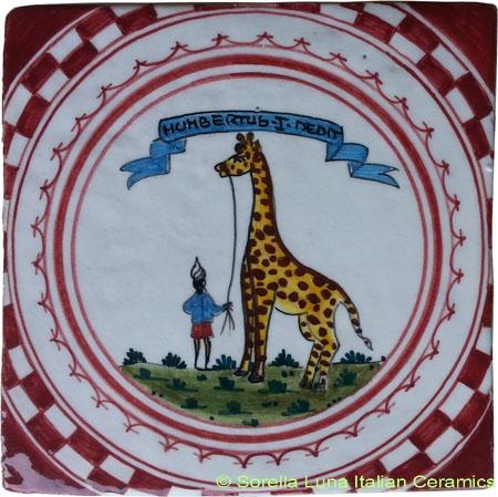 Tile Sienna Giraffe (Giraffa)