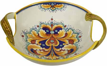 Ceramic Inverted Handled Bowl