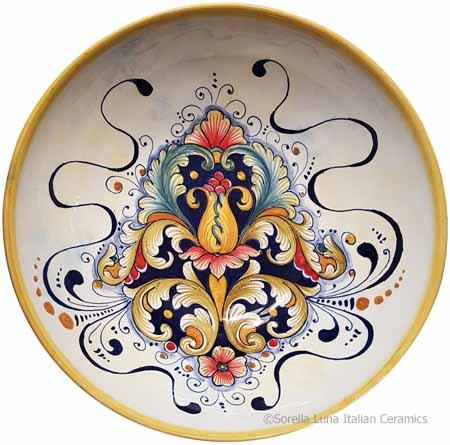Ceramic Majolica Serving Bowl - D197 - 30cm