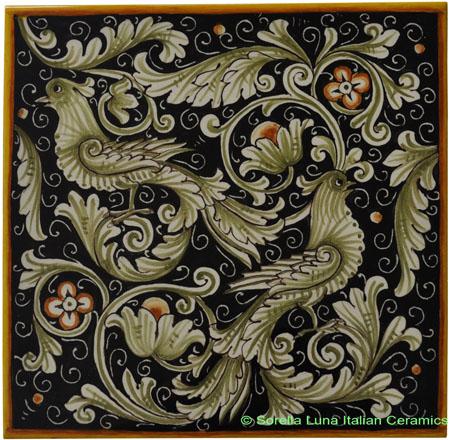 Tile Fondo New Fenice - Blue Doves