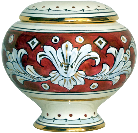 Urn - Ruby and Gold Small