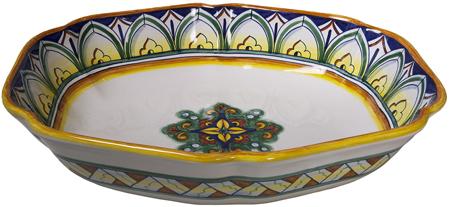 Italian Ceramic Fruit and Serving Bowl
