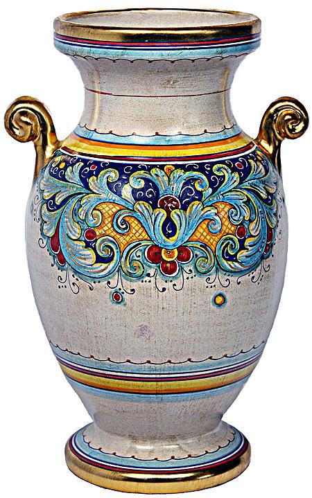 Deruta Italian Ceramic Vase - D.R. Oro