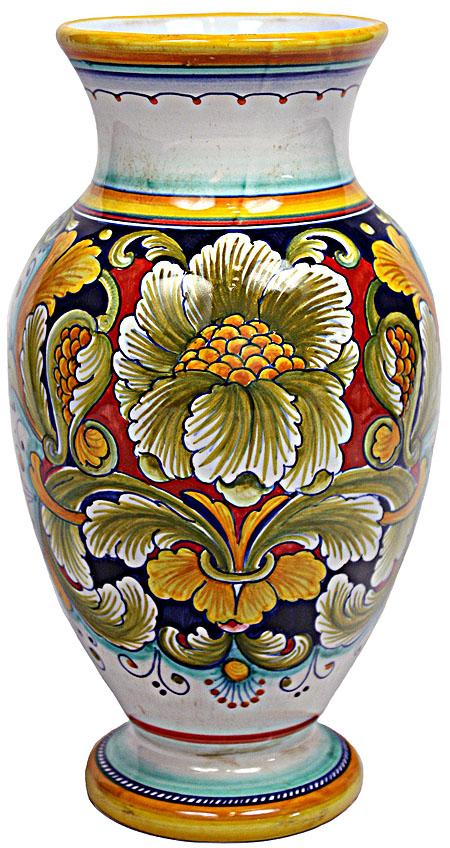 Deruta Italian Ceramic Vase - Rosa