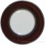 Deruta Italian Salad Plate - Black Rim Solid Brown - Cafe