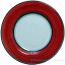 Deruta Italian Salad Plate - Black Rim Solid Bordeaux