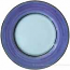 Deruta Italian Salad Plate - Black Rim Solid Purple - Viola