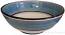 Italian Dessert/Soup Bowl - Black Rim Solid Light Blue - Platino