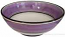 Italian Dessert/Soup Bowl - Black Rim Solid Purple - Viola