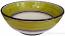 Italian Dessert/Soup Bowl - Black Rim Solid Meadow - Prato
