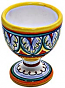 Ceramic Majolica Egg Cup Server Blue White Vario 6cm