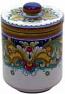 Ceramic Majolica Covered Kitchen Jar DR 19cm
