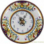 Italian Majolica Clock - Corallo - 30cm