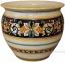 Italian Floor/Planter Vase - Ornato Black 40cm
