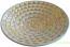 Italian Ceramic Centerpiece Bowl - Creme and Gold