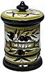 Ceramic Majolica Coffee Jar Tuscan Green Olive 20cm