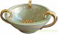 Tuscan Centerpiece Handled Bowl - Light Green and Gold