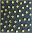 Tile - Gold Scrolls on Black