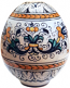Italian Ceramic Decorative Egg - Ricco Deruta Style