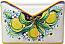 Ceramic Majolica Letter Holder Mail Lemon 24cm