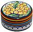 Ceramic Maiolica Covered Yellow Flower Cylinder Box 5cm
