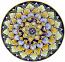 Ceramic Majolica Plate Blue Yellow Green 739 20cm