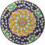 Ceramic Majolica Plate G12 FDL Blue Yellow 739 25cm