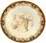 Ceramic Majolica Plate Michaelangelo Brown 739 35cm