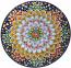 Ceramic Majolica Plate G12 Blue Orange 739 35cm