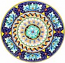 Ceramic Majolica Plate G08 Acanthus Pink Blue 739 35cm