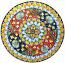 Ceramic Majolica Plate G08 FDL Red Light Blue 739 35cm