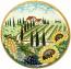 Ceramic Majolica Plate Tuscany Grape Country 35cm