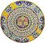 Ceramic Majolica Plate G06 Ricco Deruta Red Yellow 52cm