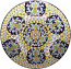 Ceramic Majolica Plate G06 G07 FDL Blue Yellow 63cm