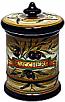Ceramic Majolica Sugar Jar Tuscan Brown Olive 20cm