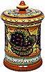 Ceramic Majolica Sugar Jar Tuscan Grapes 20cm
