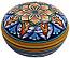 Ceramic Majolica Covered Curved Box Star8 Orange 7cm