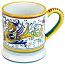 ceramic majolica coffee mug cup raffaellesco large F